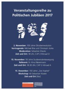 100 Jahre Oktoberrevolution - Veranstaltungsreihe zu Politischen Jubiläen 2017 @  CAP 2, Hörsaal D  | Kiel | Schleswig-Holstein | Deutschland