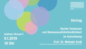 Rechte Tendenzen und Homosexualitätsfeindlichkeit im Aufschwung @ Audimax Hörsaal C