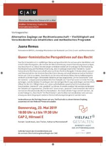 Vortrag: Queer-feministische Perspektiven auf das Recht @ CAP2 – Hörsaal E