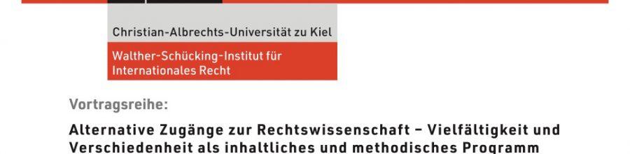 Vortragsreihe: Alternative Zugänge zur Rechtswissenschaft – Vielfältigkeit und Verschiedenheit als inhaltliches und methodisches Programm