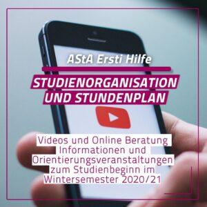 Ersti Hilfe Videos: Studienorganisation und Stundenplan
