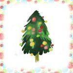 Abgebildet ist die Zeichnung eines geschmückten Weihnachtsbaums.