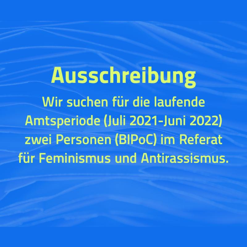 Wir suchen Dich: Feminismus und Antirassismus – Referent*in und Beauftragte*r