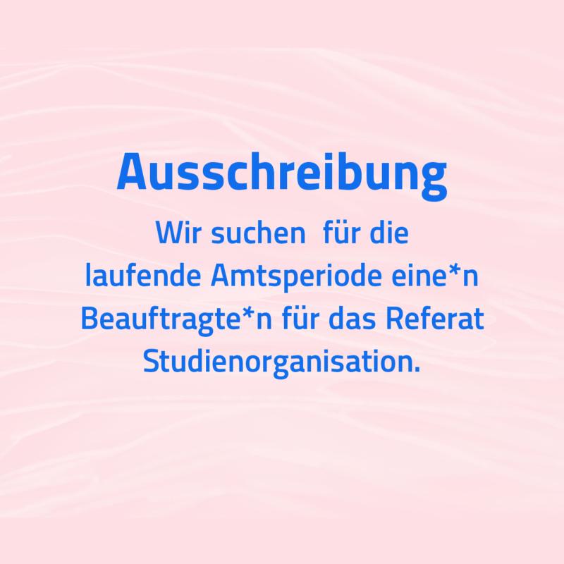 Wir suchen Dich: Beauftragte*n im Referat Studienorganisation