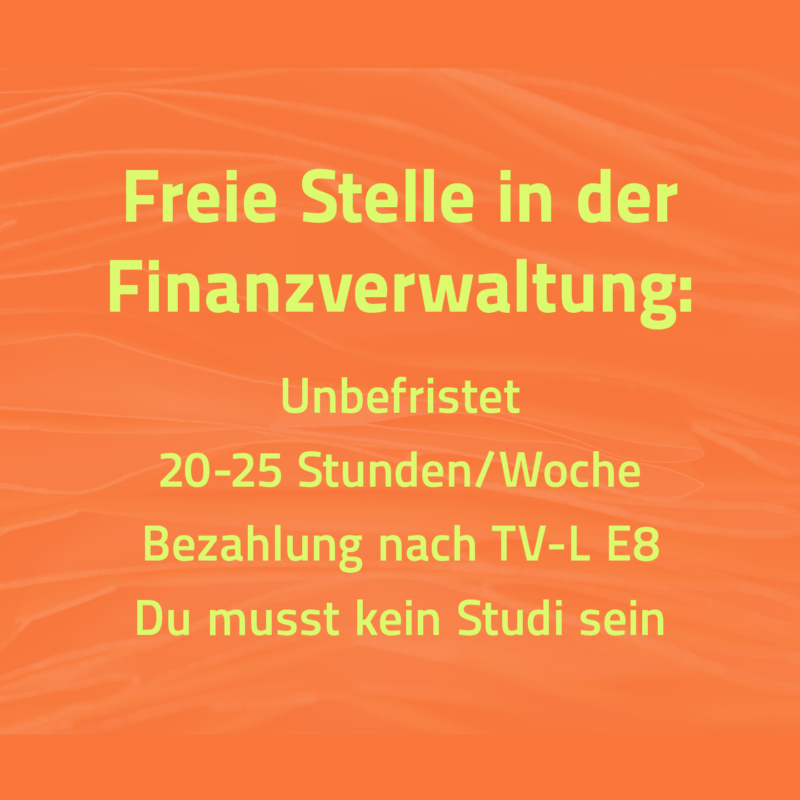 Freie Stelle Finanzverwaltung – jetzt bewerben!